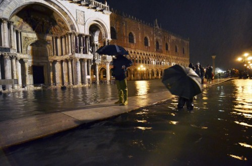 Even the walkways are washing away in Venice.