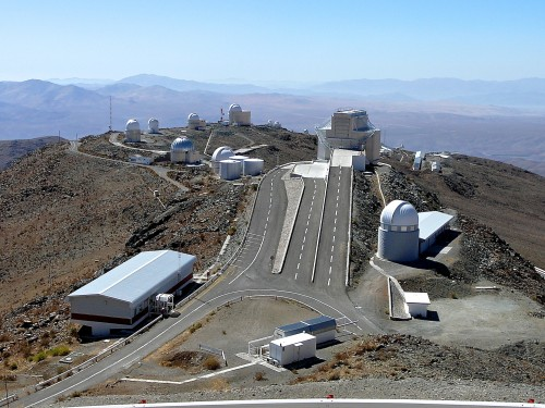 View of La Silla from the top of the largest telescope - ESO 3.6 meter