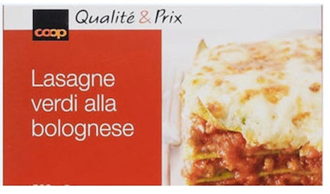Frozen lasagna sold by Coop of Switzerland contained horsemeat