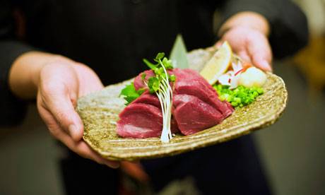 Horsemeat prepared by a specialty butcher is often served raw.