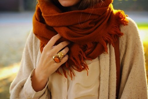 Beauty and protection - Italian women always carry a scarf