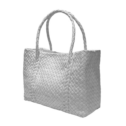 The Intrecciato Pieno Fiore Leather Basket of infinity design