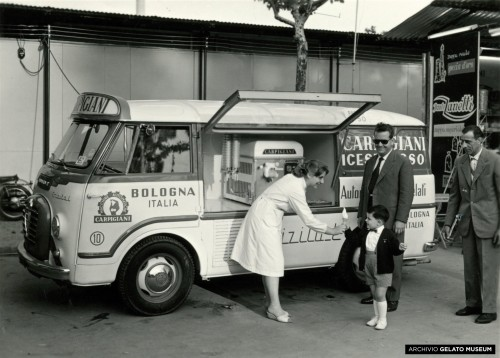 1958 One of the first soft serve Carpigiani gelato vans