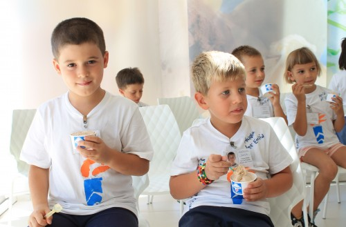 Learning labs at the Gelato Museum for children