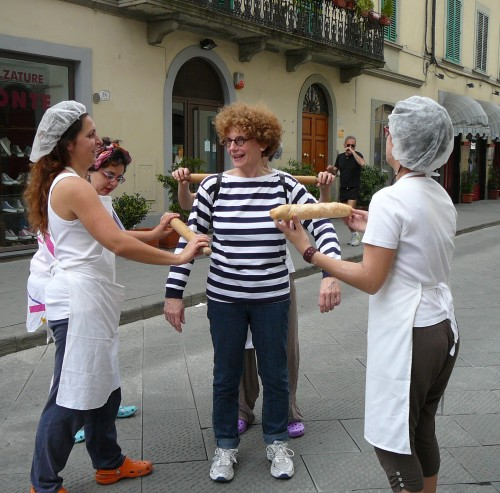 Bread bakers take rolling pins to the streets of Prato