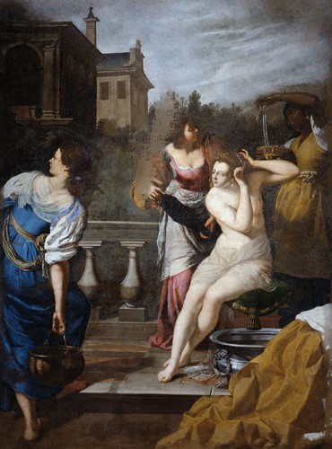 Restored Painting by Artemisia Gentileschi (David and Bathsheba)