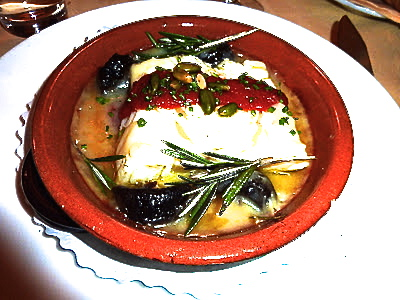 Salt cod with a spicy touch
