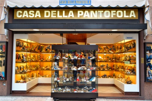 The Casa della Pantofola sells only slippers