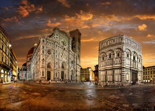 Florence Duomo as night falls