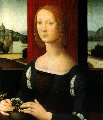 Portrait of Caterina Sforza by Lorenzo di Credi