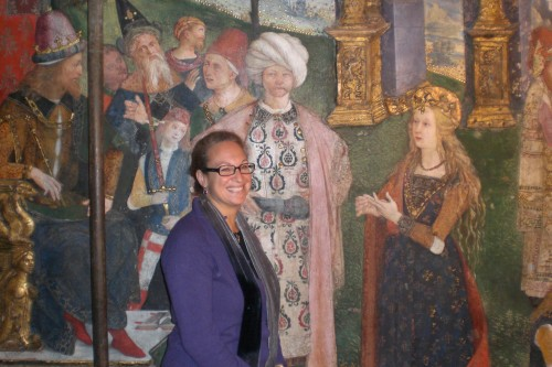 Elizabeth Lev discussing the  fresco by Pinturicchio that depicts Lucrezia Borgia