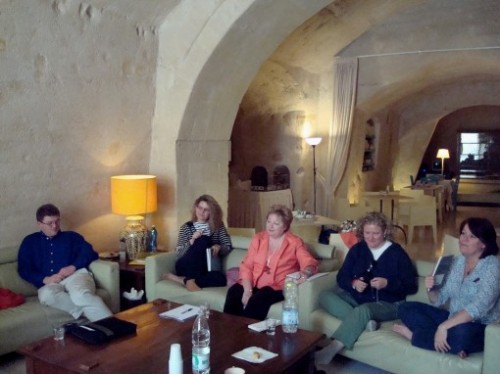 Brainstormers at Work in Matera (photo by Claude Nougat)