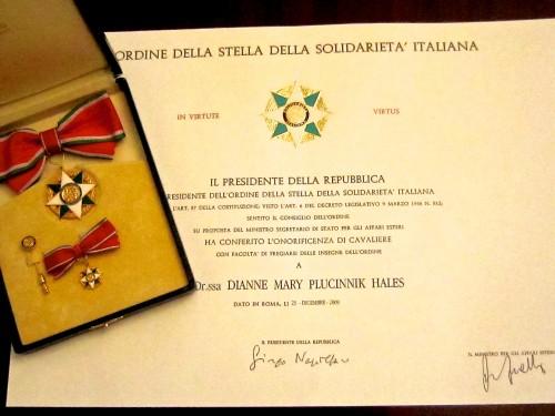 Cavaliere dell'Ordine della Stella della Solidarità Italiana