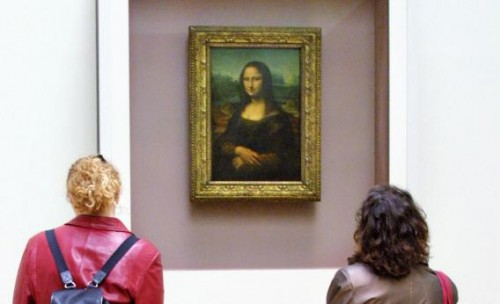 Mona Lis at the Louvre (Photo by Joel Saget/AFP/Getty Images)