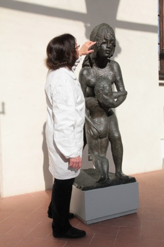 Restored statue by Antonietta Raphael Mafai