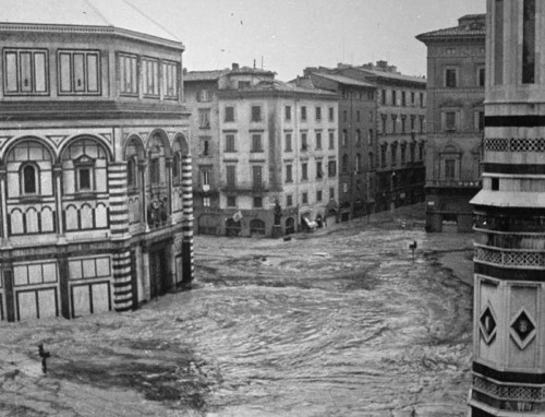 The devastation of the 1966 flood in Florence