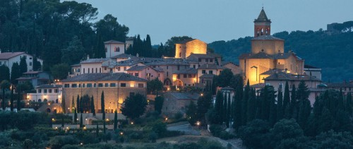 Solomeo in Umbria in the Evening