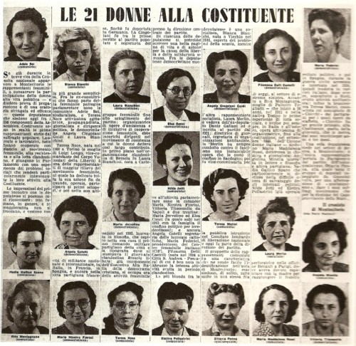 Women who helped create the new constitution in 1946