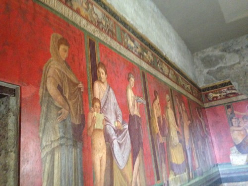 Fresco from the Villa of Mysteries in Pompeii