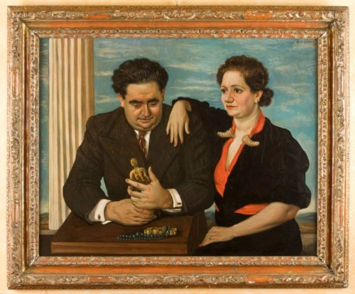Luigi Sr. and Nini Bellini by Giorgio de Chirico, Bellini Collection (ilgiornaledellarte.com)