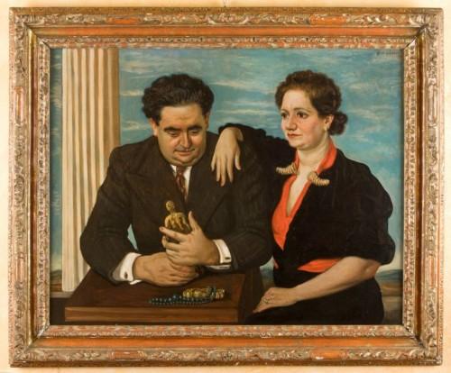 Luigi Sr. and Nini Bellini by Giorgio de Chirico, Bellini Collection (ilgiornaledellarte.com)