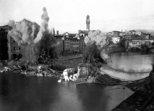 The destruction of the Santa Trinita Bridge