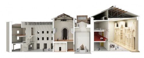 Sectional view of the Duomo Museum
