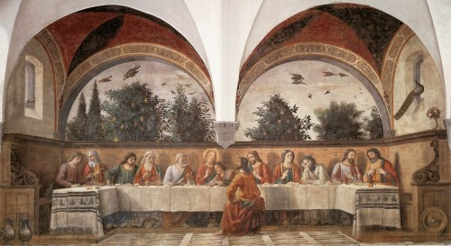 The Ghirlandaio Last Supper at the Church of Ognissanti was saved by strappo