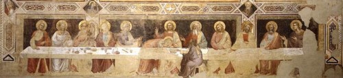 Last Supper by Taddeo Gaddi (1335) restored after 1966 flood