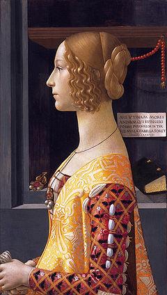 Portrait of Giovanna Tornabuoni by Domenico Ghirlandaio, 1488 (Museo Thyssen-Bornemisza)