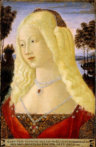 Portrait of a Lady by Neroccio dei Landi (1485)