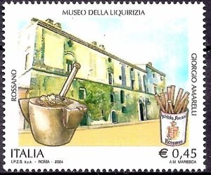 Licorice Museum depicted on Italian postage stamp