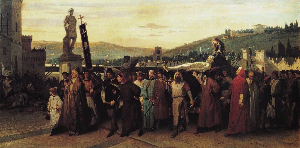 Funeral of Buondelmonte dei Buondelmonti by F.S. Altamura (1860)